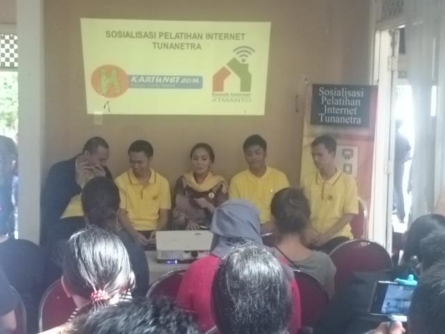SosialisasiPelatihan Internet Tunanetra. Dokumentasi: Sari Novita