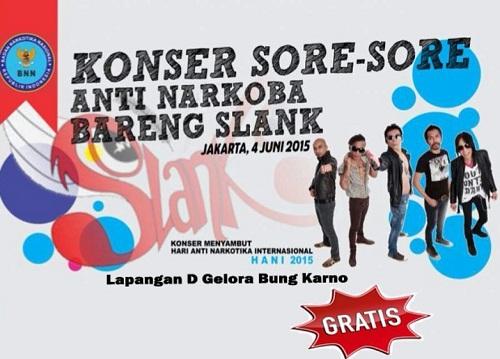 Konser Sore-sore Anti Narkoba, 4 Juni 2015