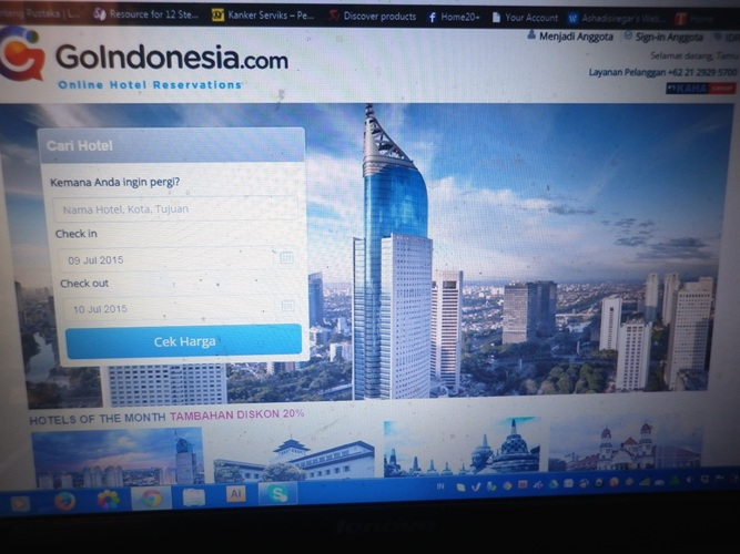 Tampilan GoIndonesia.com di laptop