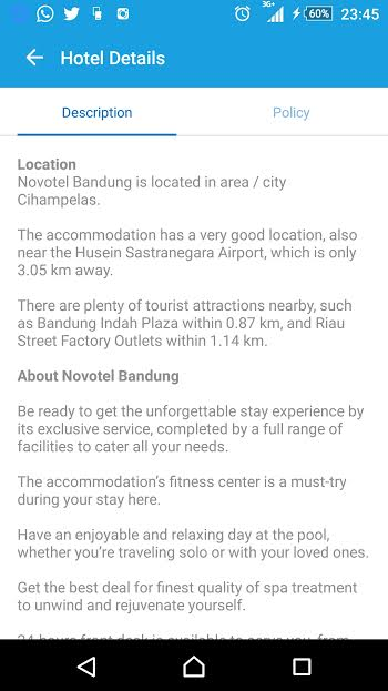 #Traveloka novotel description